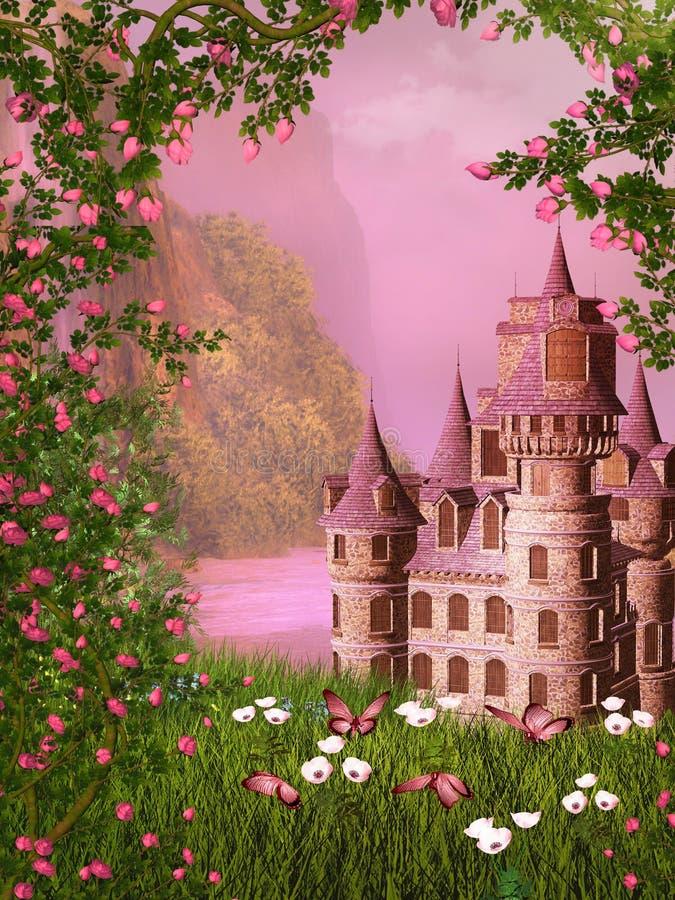 Fairy tale castle vector illustration