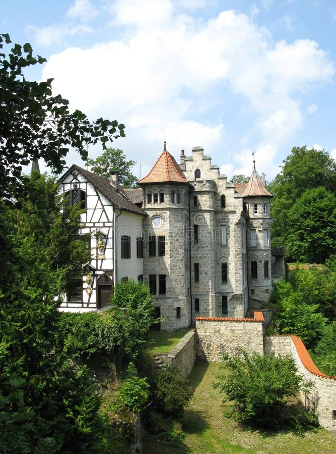 A Fairy Tale Castle In Lichtenstein Royalty Free Stock Photography