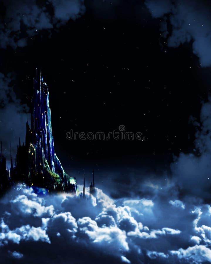 Fairy-tale da noite ilustração do vetor