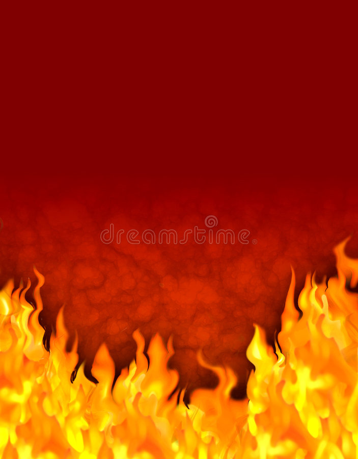 Fairy tale fire background stock image