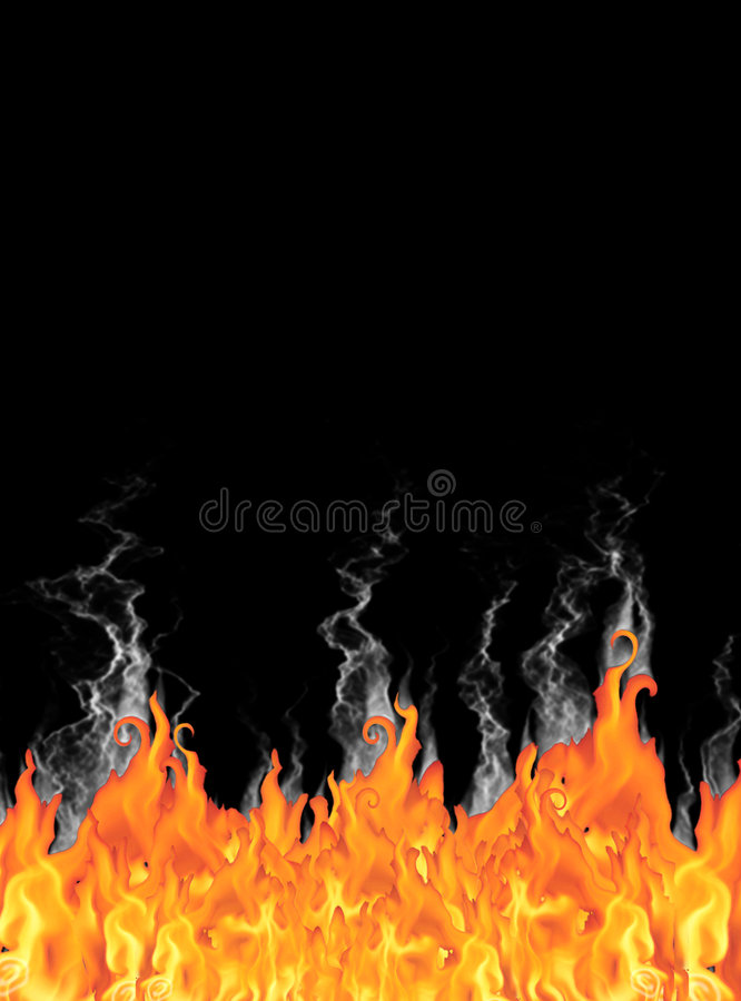 Fairy tale fire & smoke background stock photo