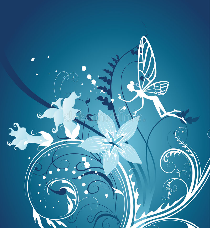Fairy-tale floral background. stock illustration