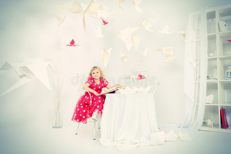 Fairy tale girl stock image