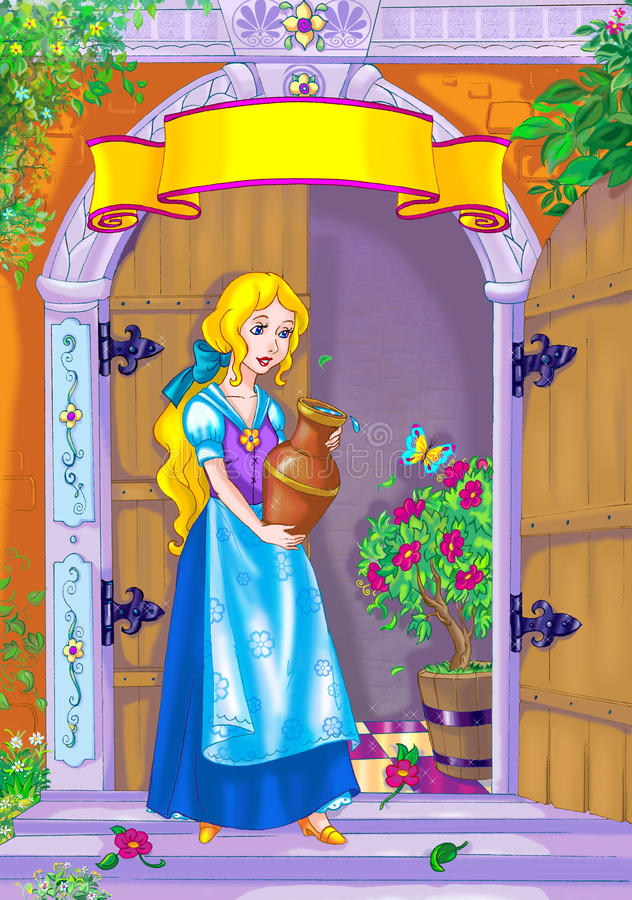 Fairy tale heroine stock images