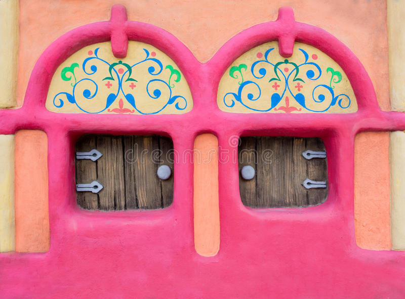 Fairy-tale house facade stock photo