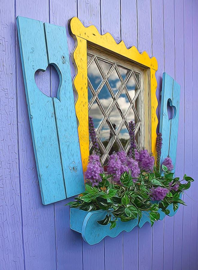 Fairy tale house window royalty free stock photos