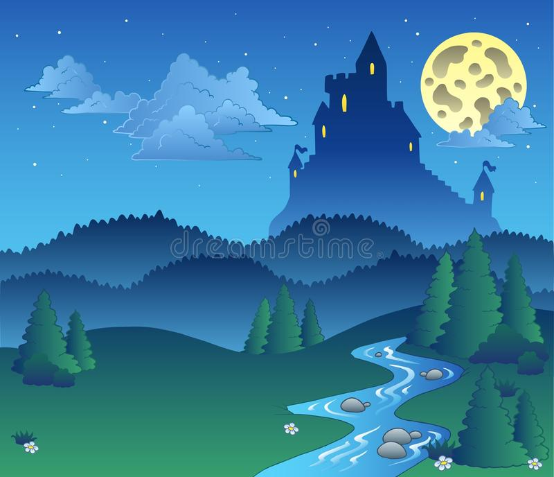 Download Fairy Tale Landscape At Night 1 Royalty Free Stock Image - Image: 17229196