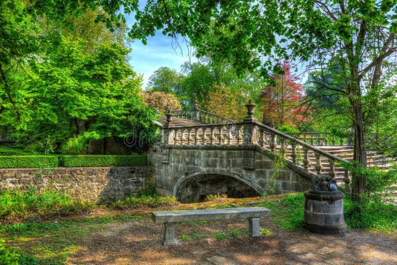 Fairy-tale like bridge stock images