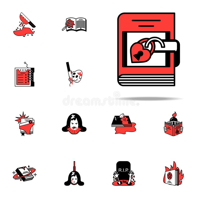 Fairy tale, literary icon. Literary genres icons universal set for web and mobile vector illustration