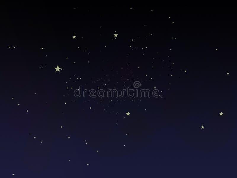 Fairy tale night sky. A fairy tale night sky royalty free illustration