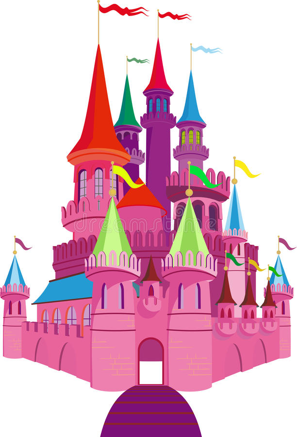 Download Fairy-tale Pink Castle stock vector. Image of king, medieval - 26477423