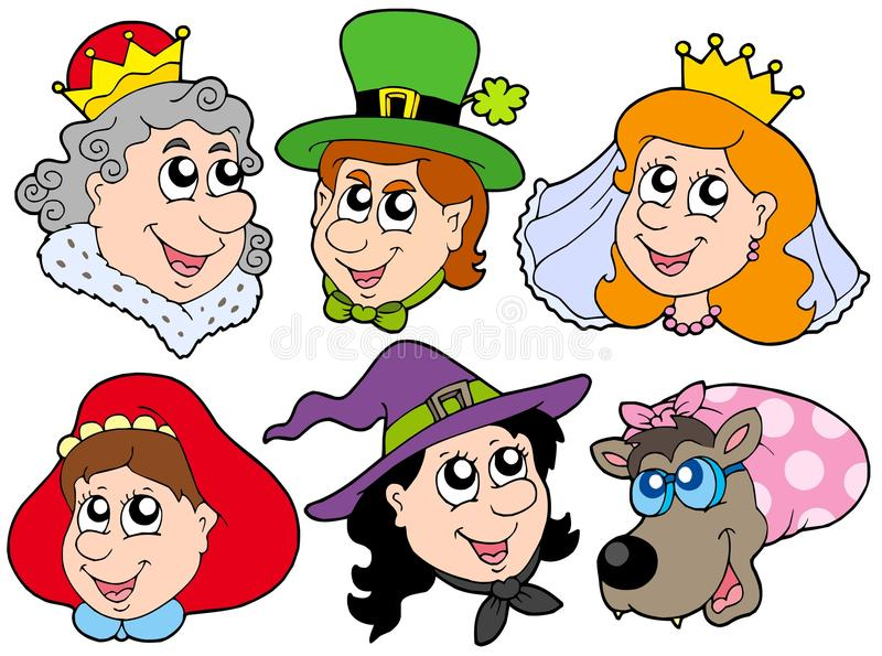 Download Fairy Tale Portraits Collection Stock Vector - Illustration of cartoon, fairy: 10015284
