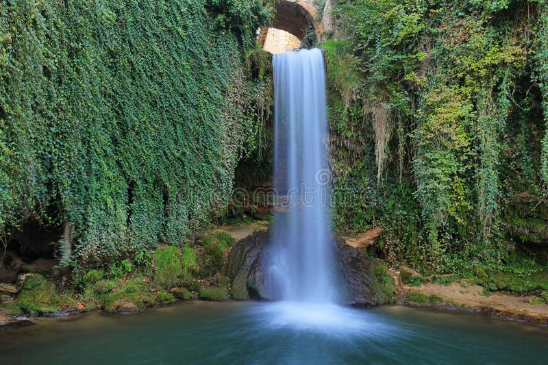 Fairy Tale waterfall in Tobera, Spain royalty free stock photography