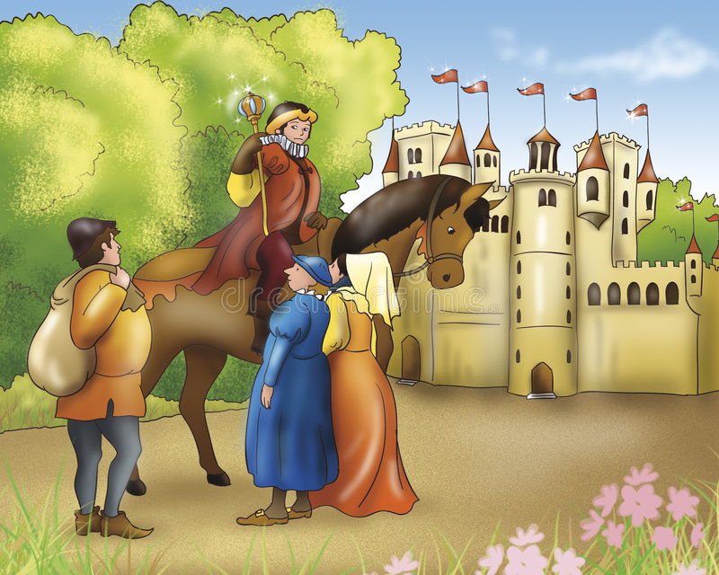 Download Fairy Tales-Prince And Castle Stock Illustration - Image: 4298032