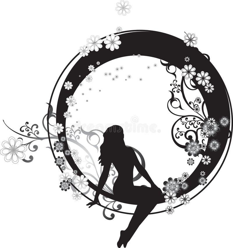 Download Fairy in un cerchio illustrazione vettoriale. Immagine di fairy - 6658813