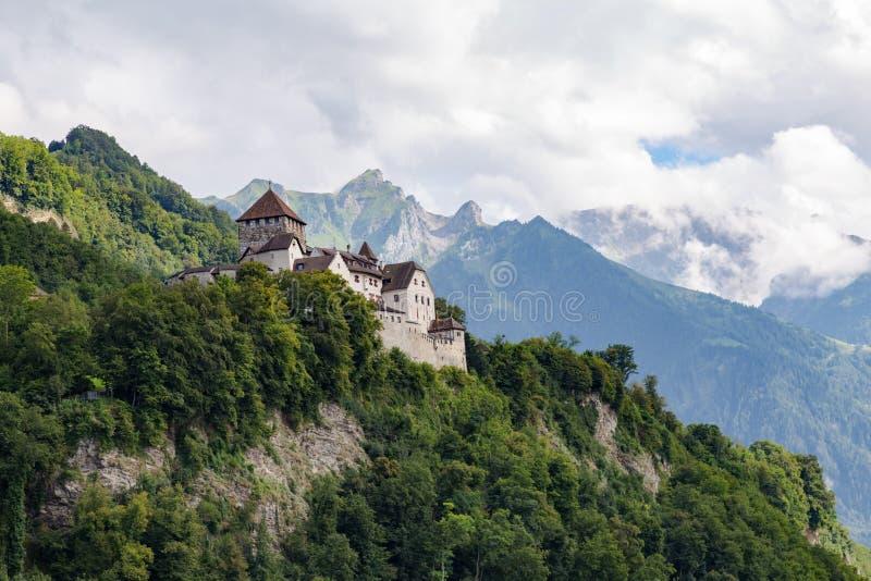 Fairy Vaduz castle, Liechtenstein royalty free stock images