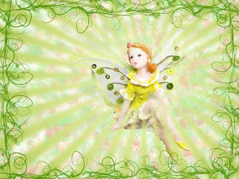 Fairy verde ilustração royalty free