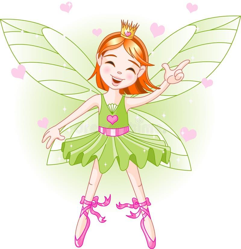 Fairy verde pequeno ilustração royalty free