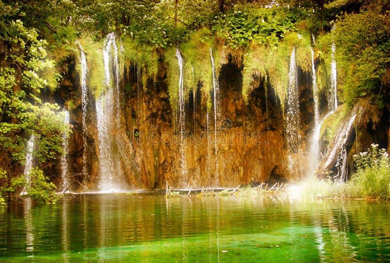 Fairy waterfall stock image