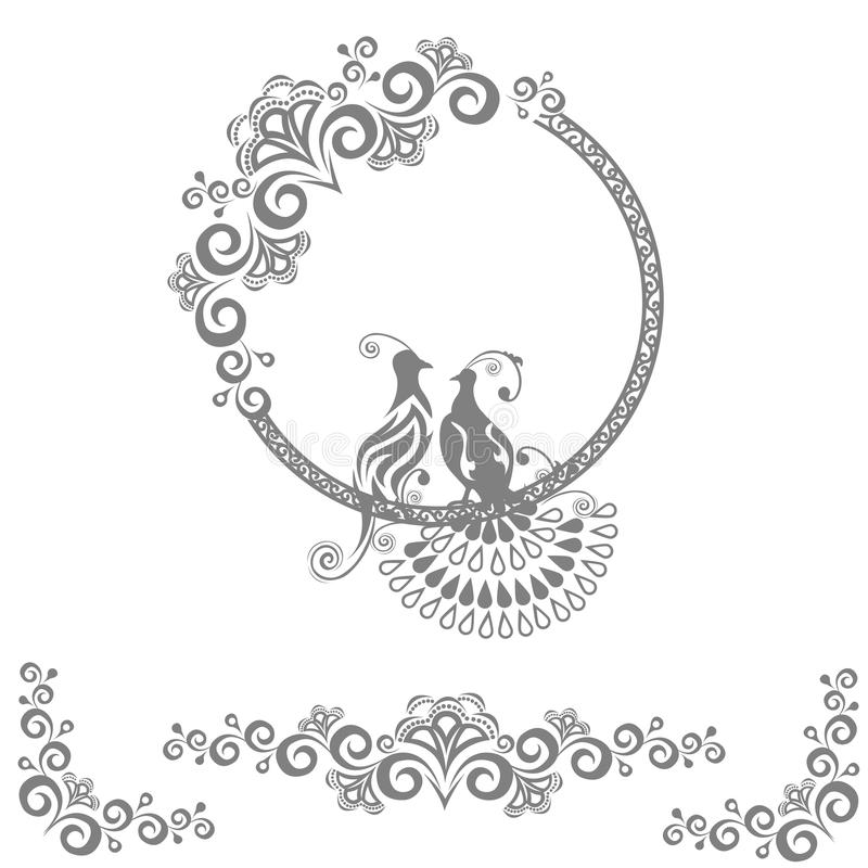 Fairy wedding birds royalty free illustration