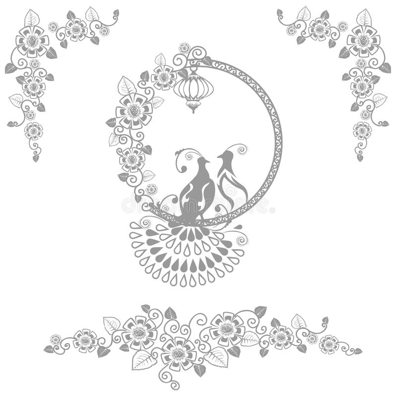 Fairy wedding birds vector illustration