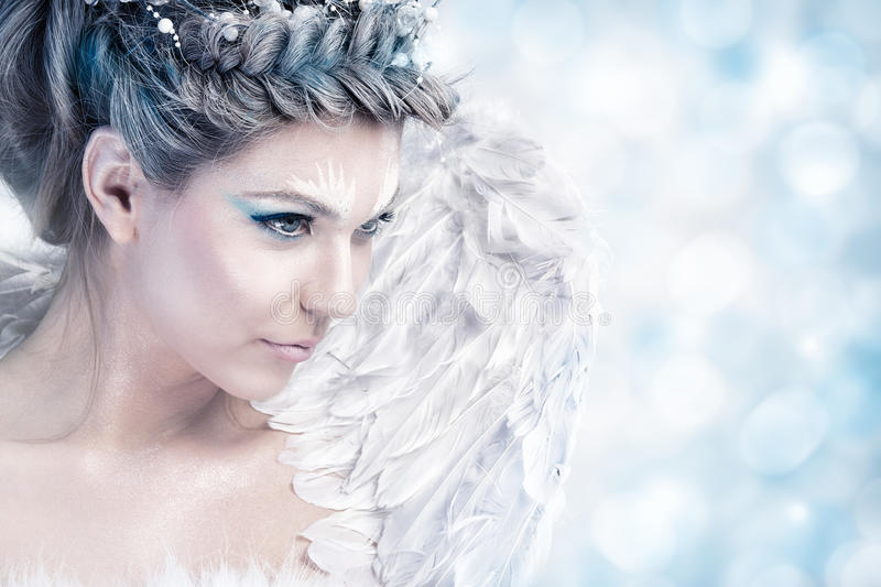 Fairy winter royalty free stock photography