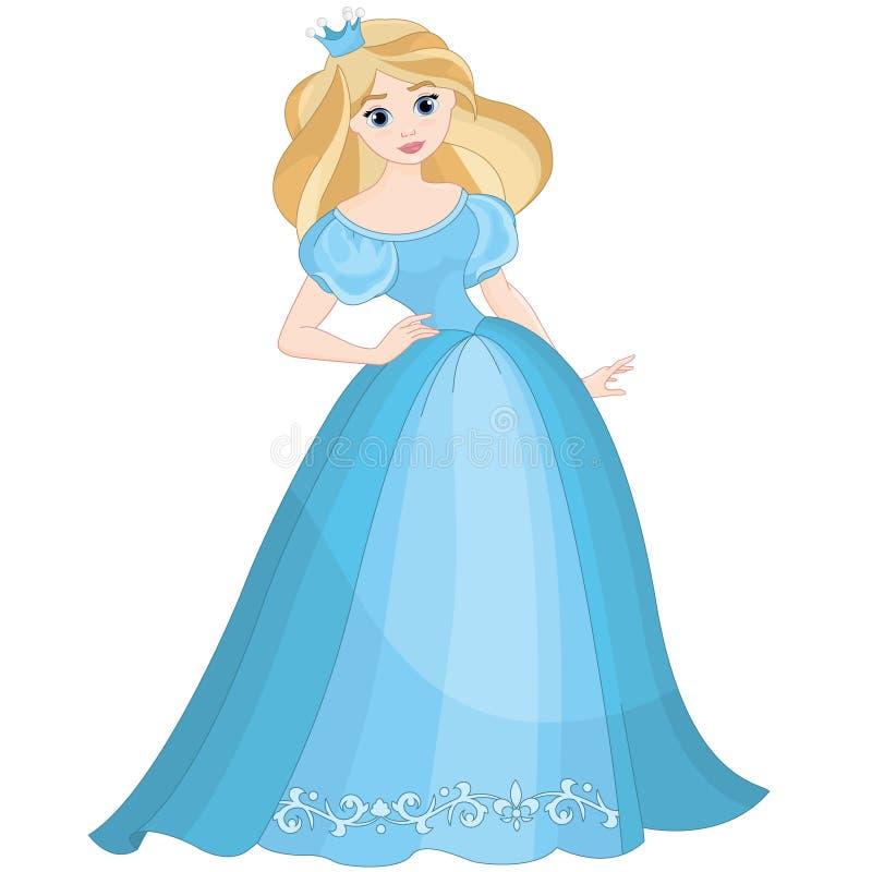 Fairytale blonde leuke mooie prinses royalty-vrije illustratie