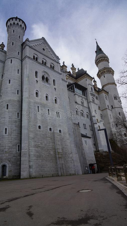 Fairytale castle of bavaria royalty free stock photo