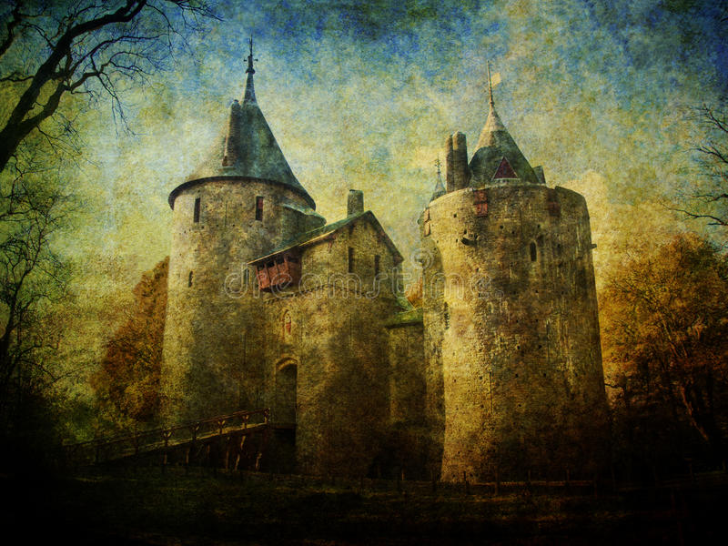 Fairytale Castle Coch stock images