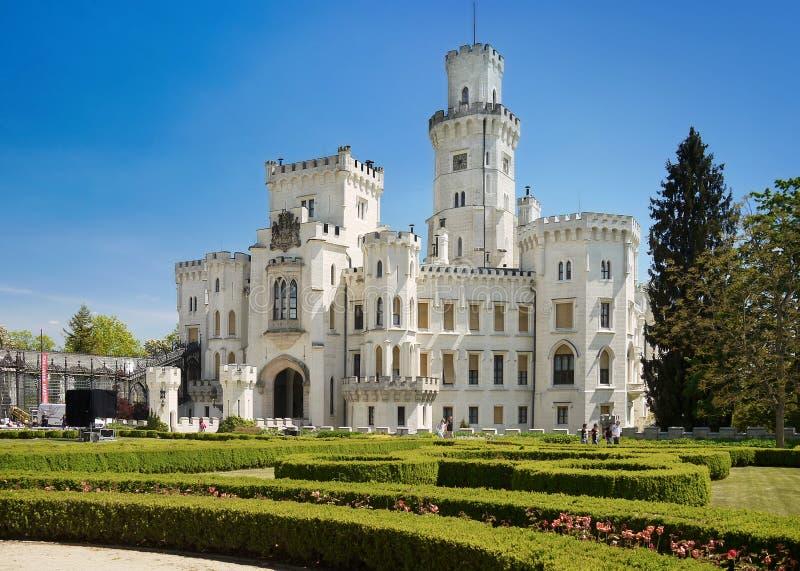 Fairytale Castle, Romantic Castle Hluboka stock images