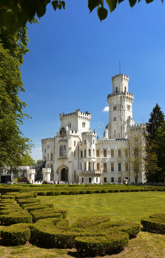 Fairytale Castle, Romantic Castle Hluboka royalty free stock images