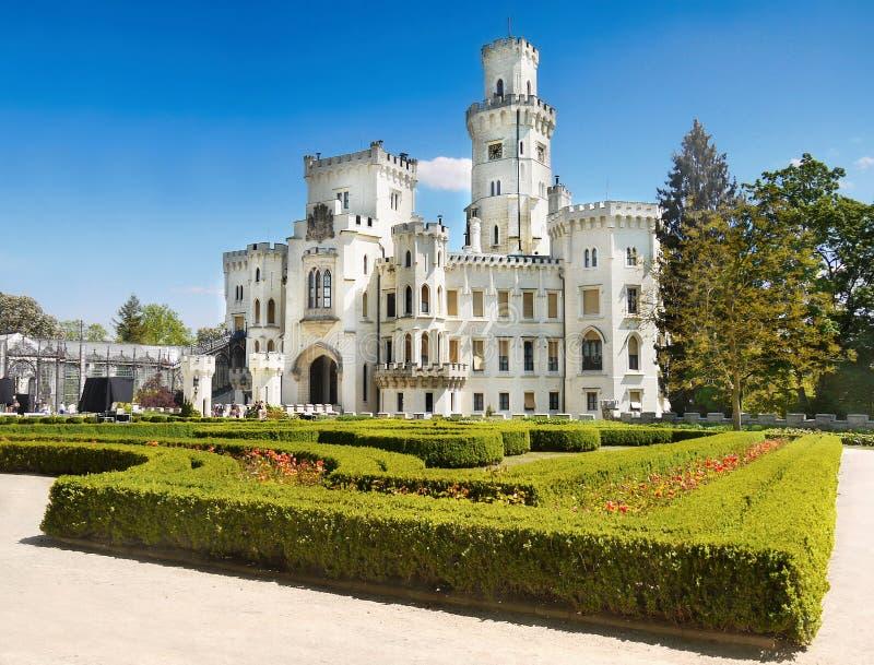 Fairytale Castle, Romantic Castle Hluboka royalty free stock photography