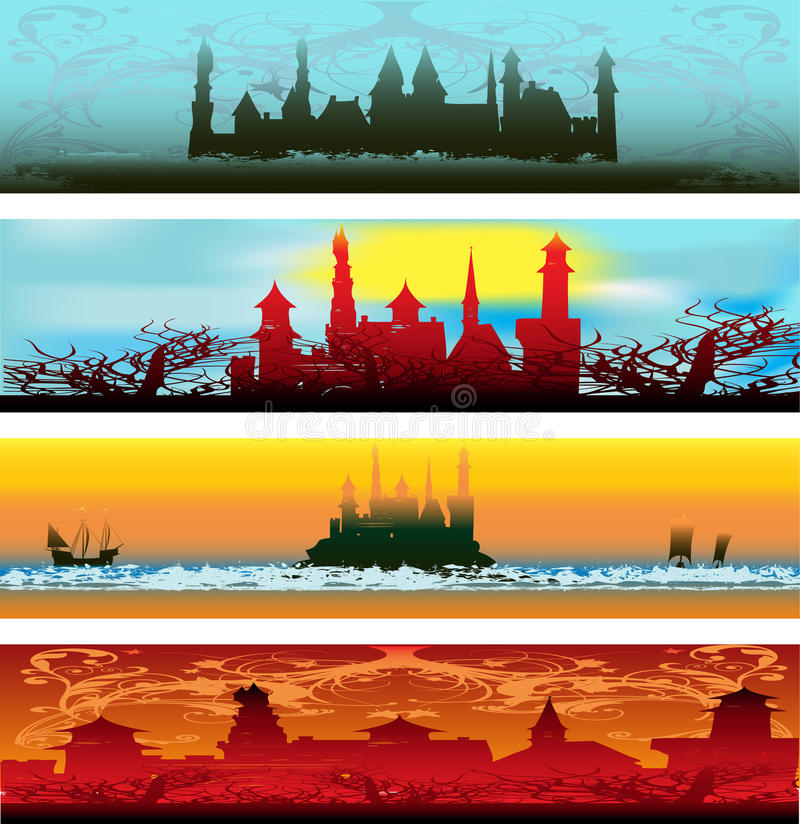 Download Fairytale Castle Web Banners Stock Vector - Illustration of image, esoteric: 11649806