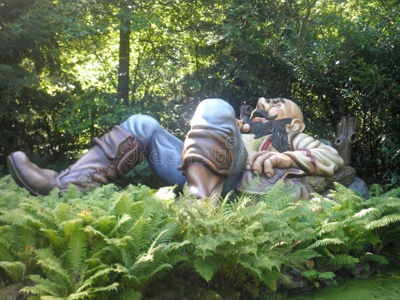 Fairytale Giant sleeping stock photos