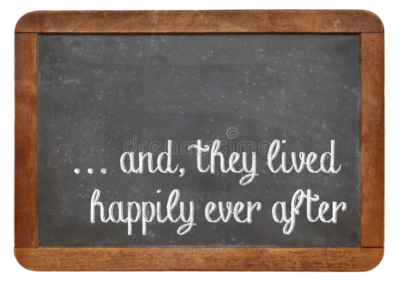 Fairytale happy end phrase stock photo. Image of opening ...