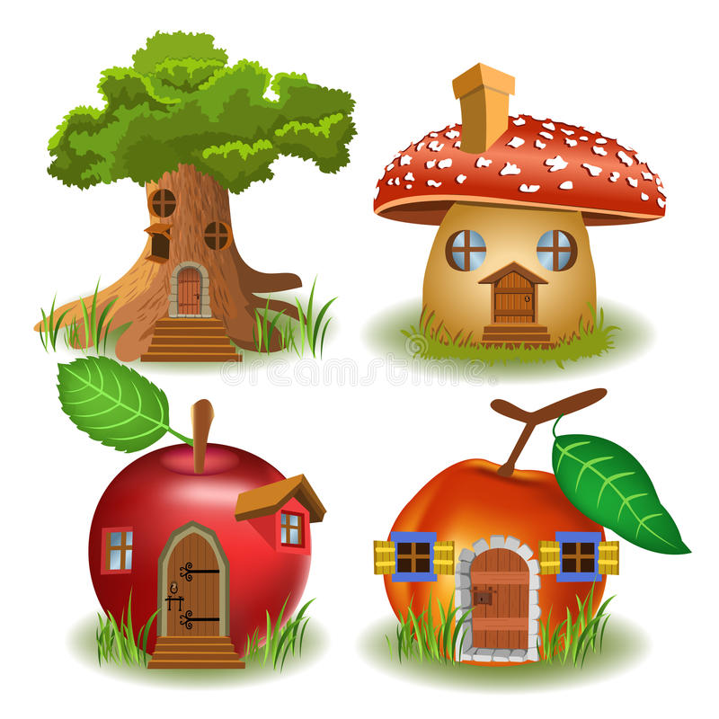 Fairytale houses royalty free illustration