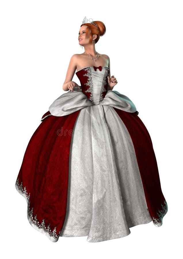 Fairytale Princess on White vector illustration
