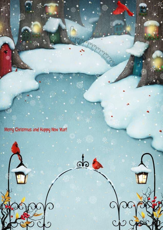 Fairytale village royalty free illustration