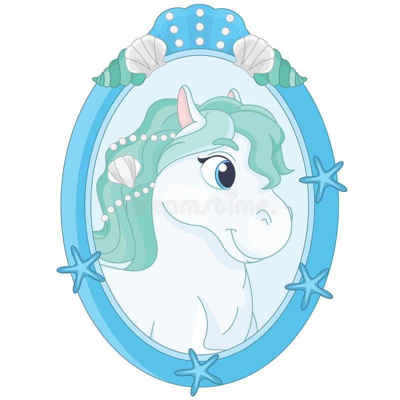 Fairytale vrij Leuke Pony Portrait vector illustratie