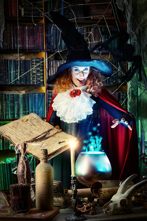 Fairytale witch stock photography