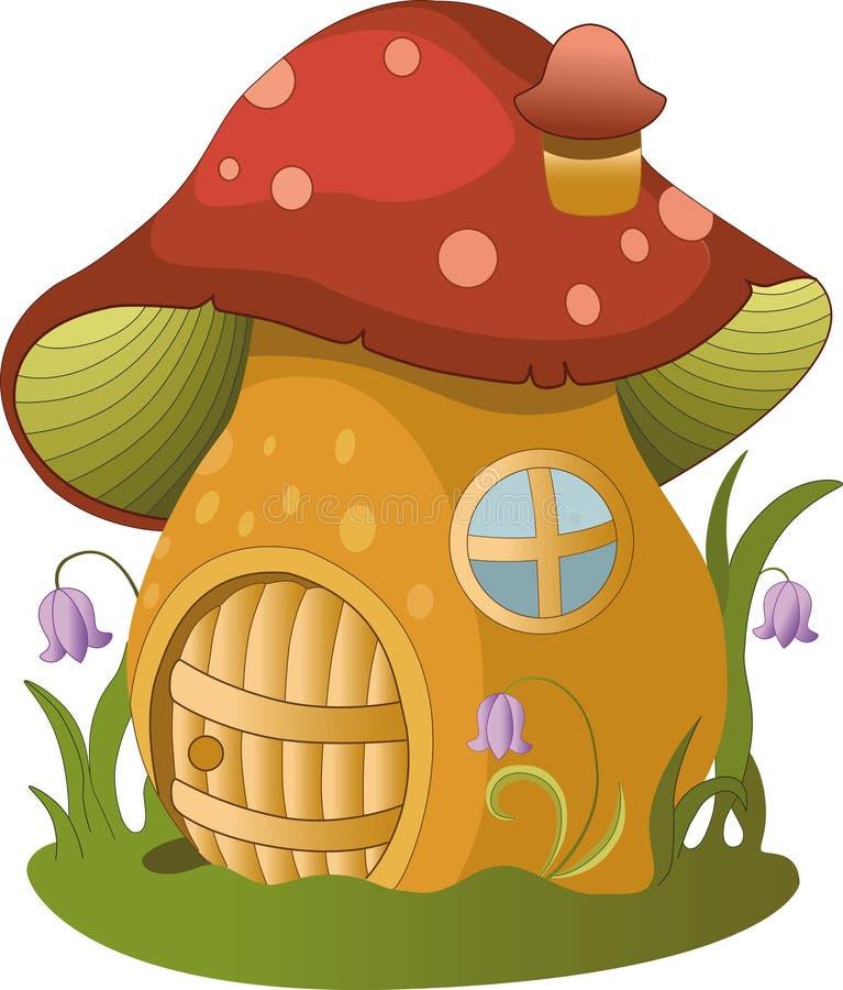 Fairytalehuis illustratie van fairytalehuis royalty-vrije stock afbeeldingen