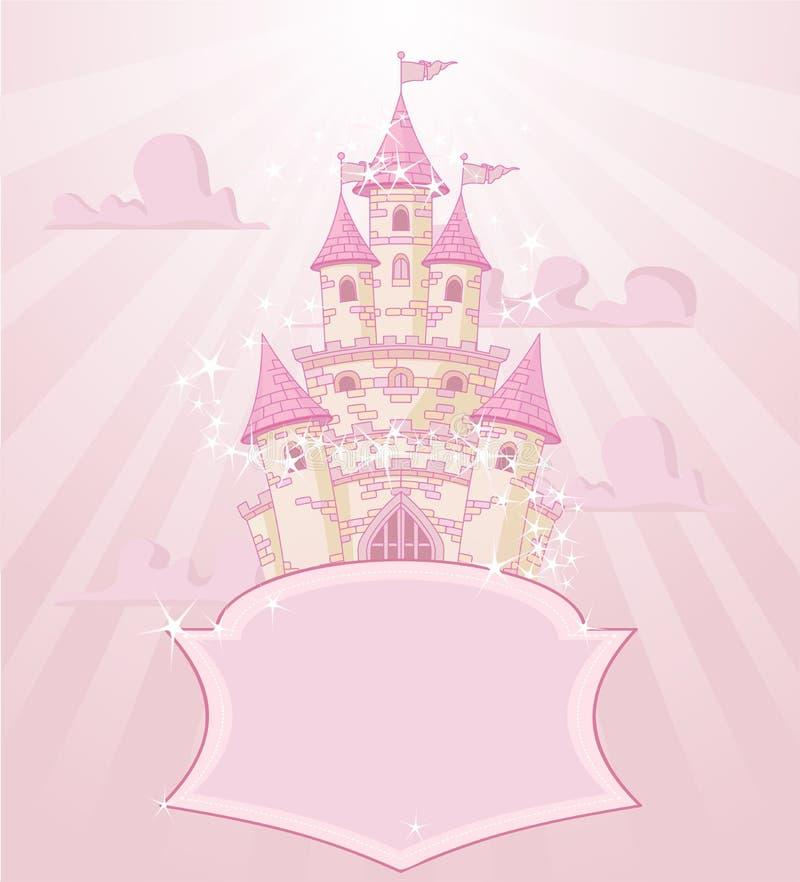Fairytalekasteel stock illustratie