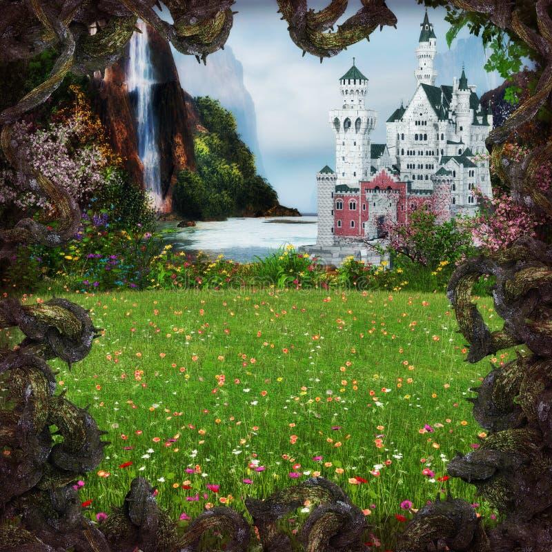 Fairytalekasteel royalty-vrije stock afbeelding