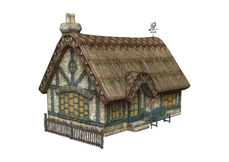 Fairytaleplattelandshuisje vector illustratie