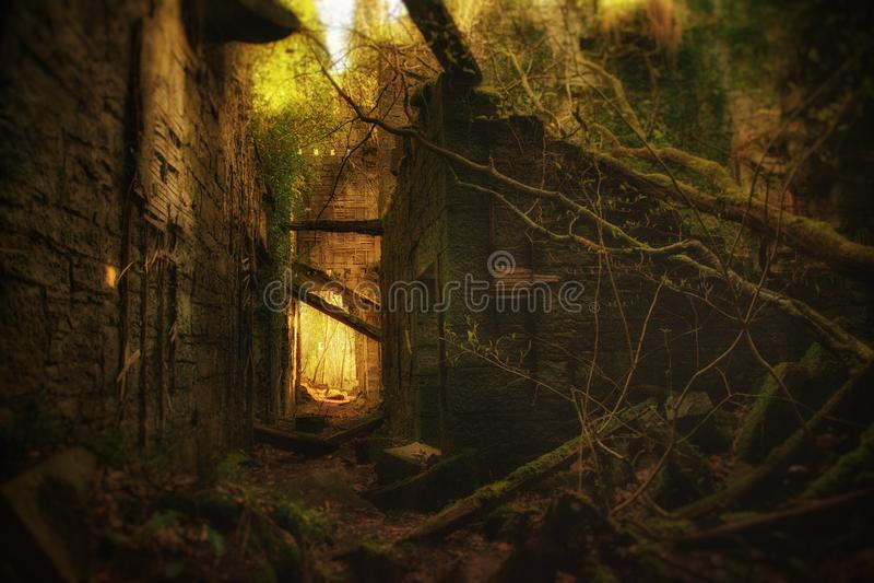 Fairytaleruïne royalty-vrije stock afbeeldingen