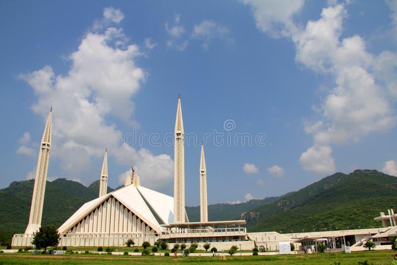 faisal islamabad moské arkivfoto