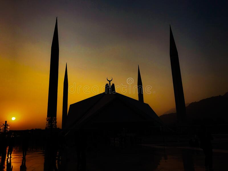 Faisal masjid Islamabad, beleza paquistanesa foto de stock royalty free