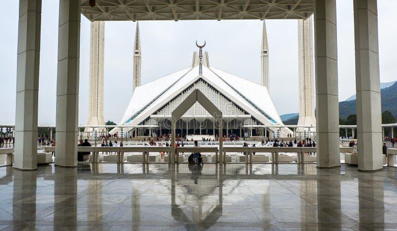 Faisal Mosque em Islamabad, Paquistão fotos de stock