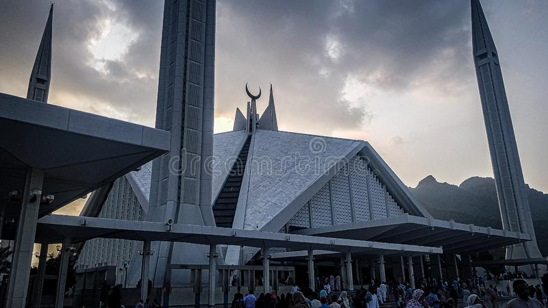 Faisal Mosque, Islamabad stock photos