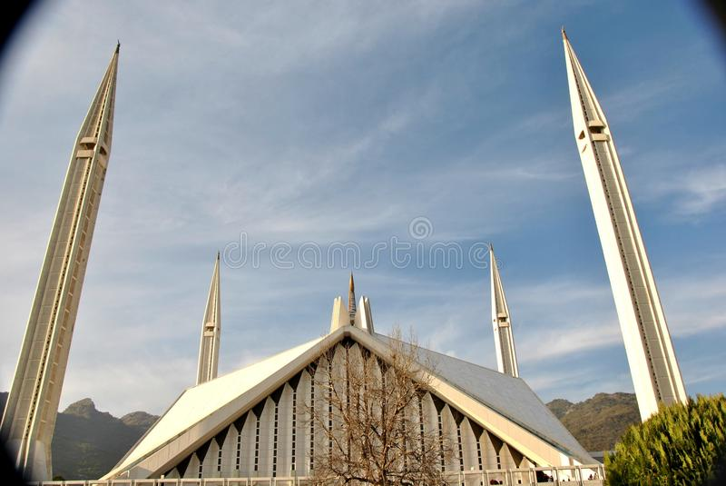 Faisal Mosque Islamabad stock image